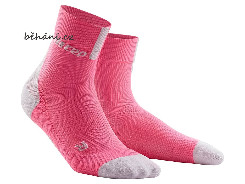 Compression Short Socks 3.0 rose light grey WP4BGX w pair front