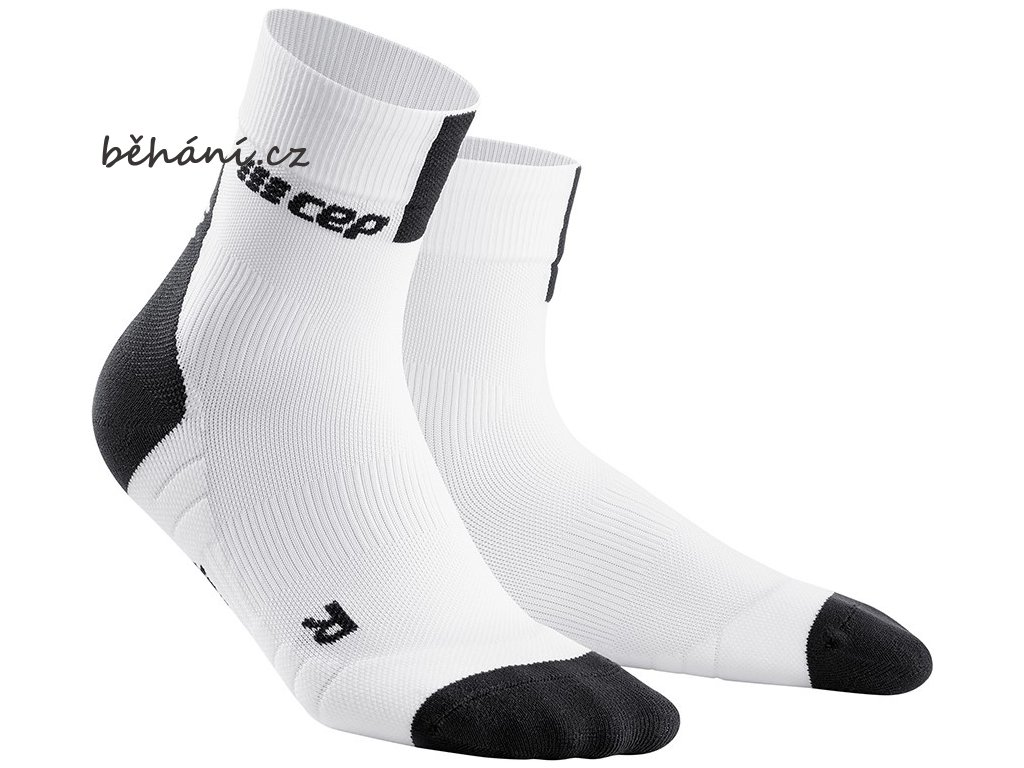 Compression Short Socks 3.0 white dark grey WP5B8X m WP4B8X w pair front