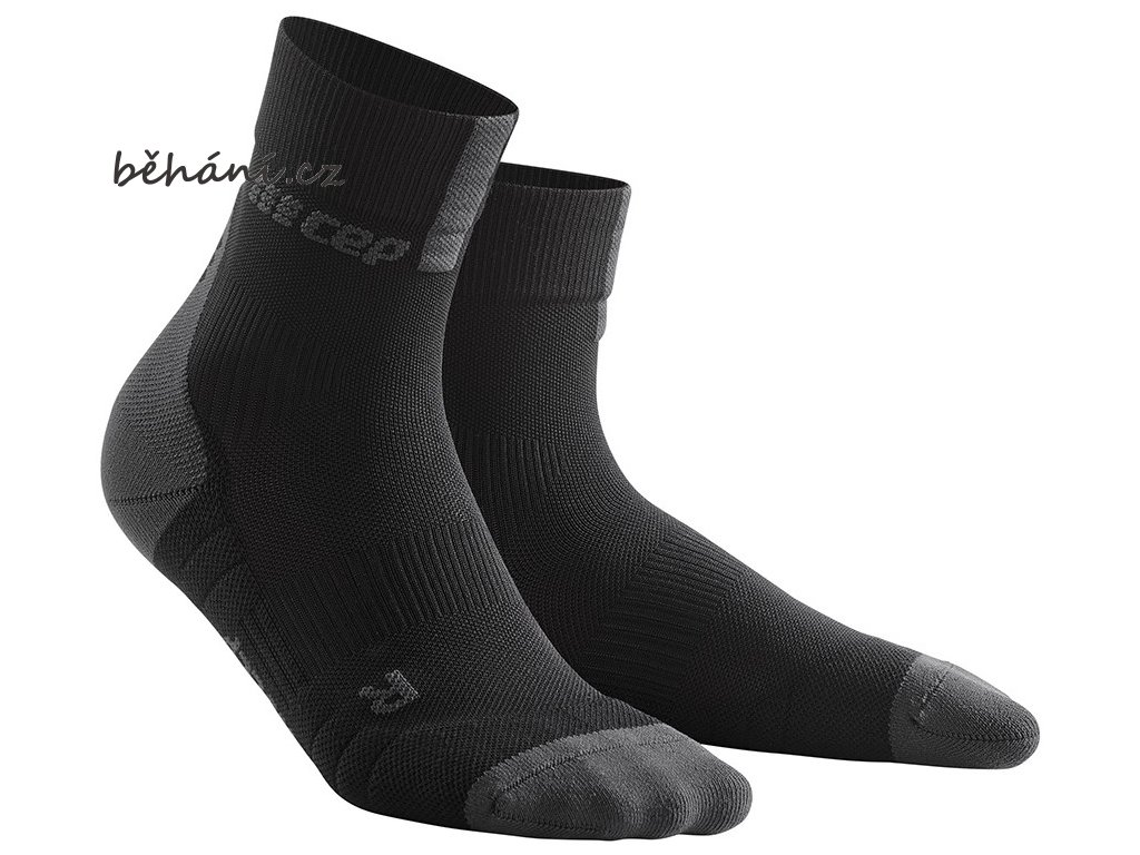 Compression Short Socks 3.0 black dark grey WP5BVX m WP4BVX w pair front