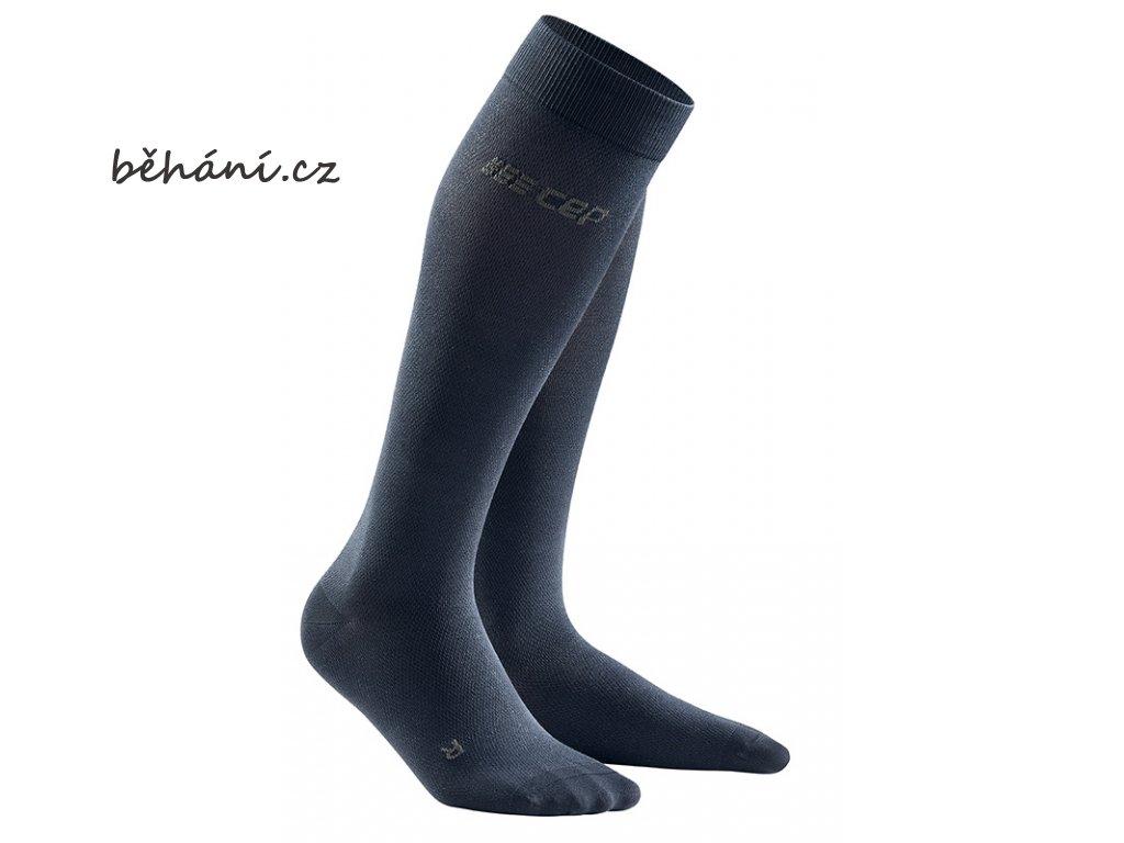 Business Socks dark blue WP50YE m WP40YE w pair front