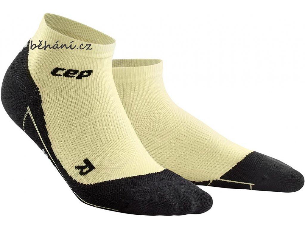 Compression Low Cut Socks lunges lemon WP4ARK w pair front