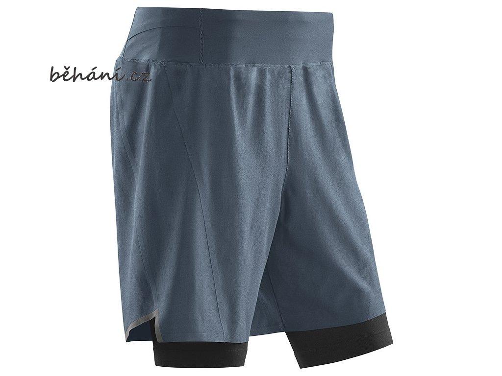 Run 2in1 Shorts grey black W9112K m front