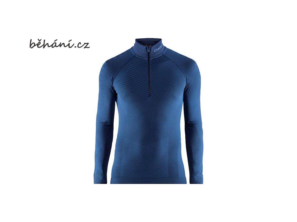 triko craft active intensity zip tmave modra