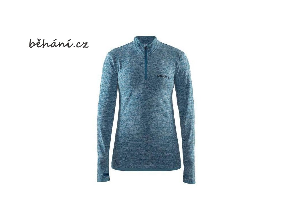 w triko craft active comfort zip ls modra