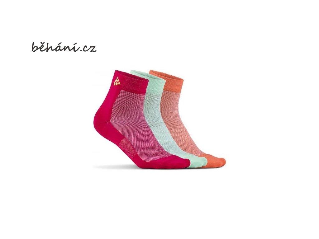 Ponožky CRAFT Mid - tři páry