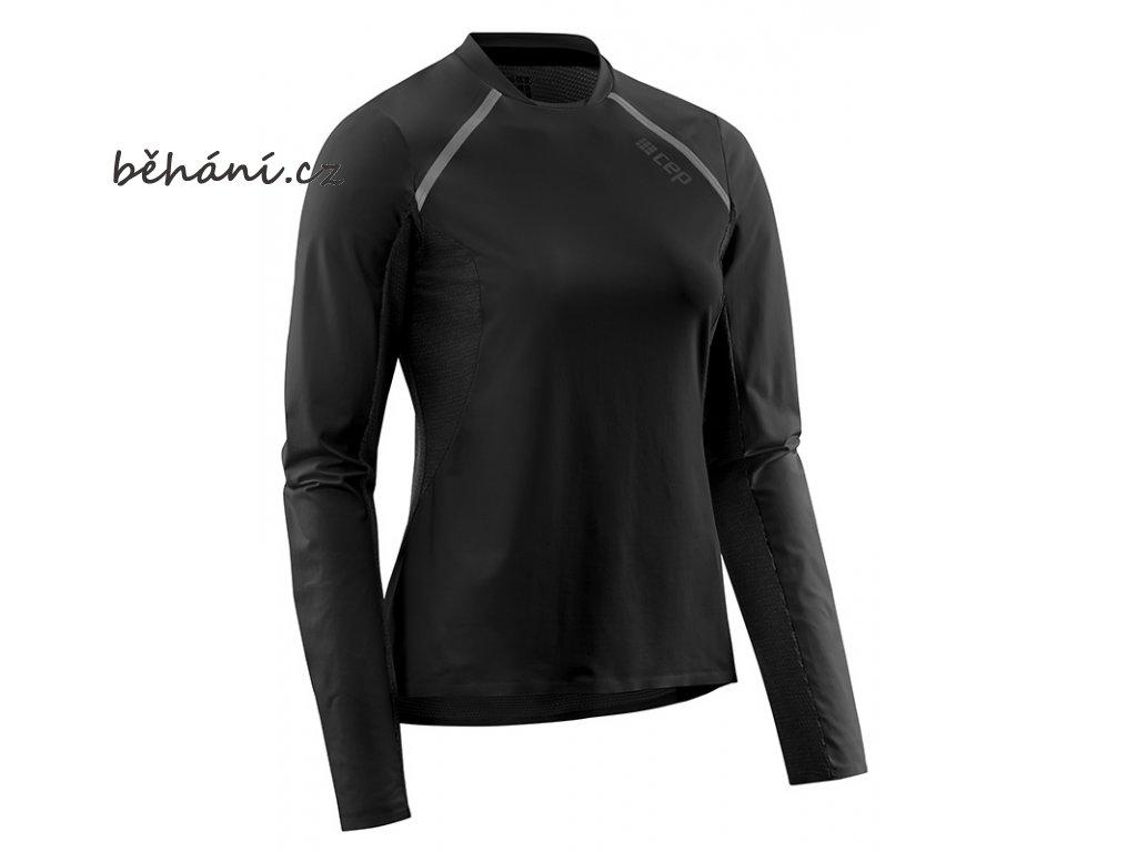 Run Shirt Long Sleeve black W9A356 w front