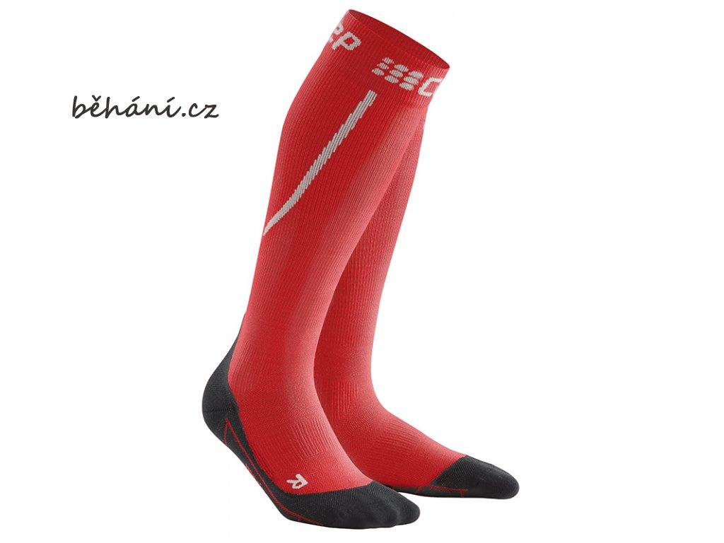 Winter Run Compression Socks red black pair