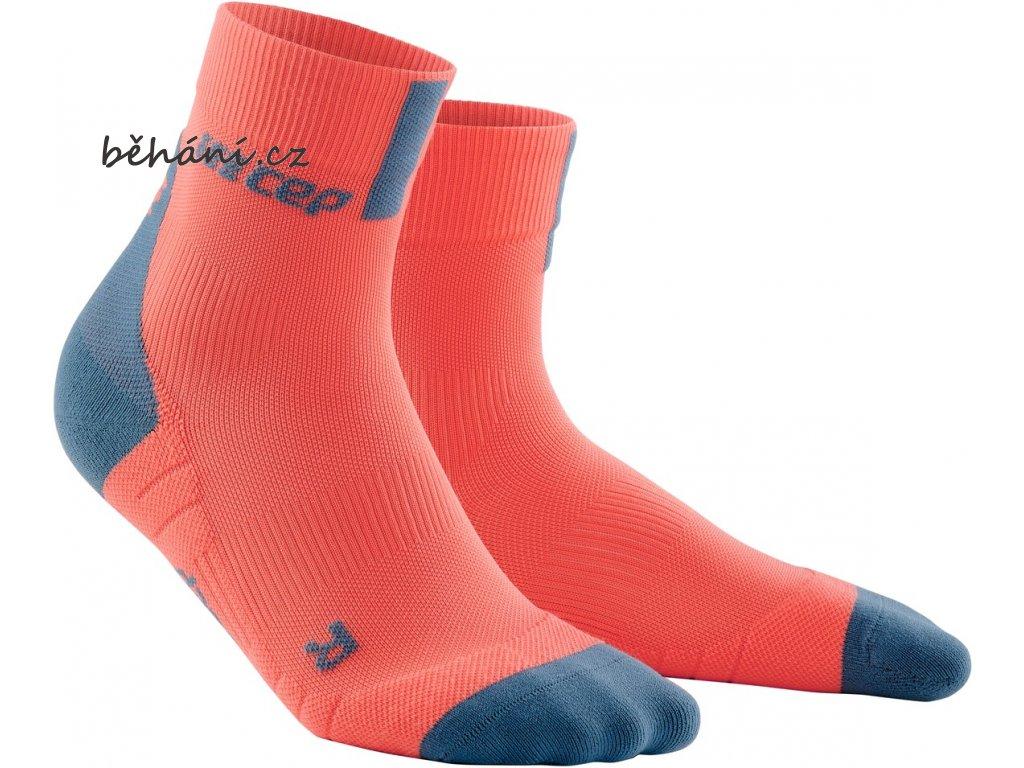 Compression Short Socks 3 0 coral grey WP4BBX WP5BBX front 2