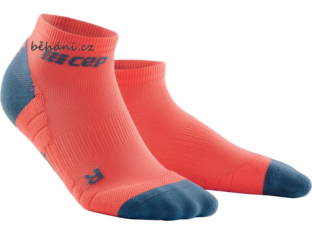 Compression Low Cut Socks 3 0 coral grey WP4ABX WP5ABX front 2