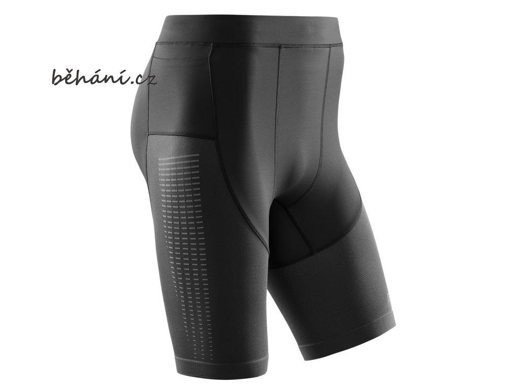 Run Compression Shorts 3 0 black W0115C m front