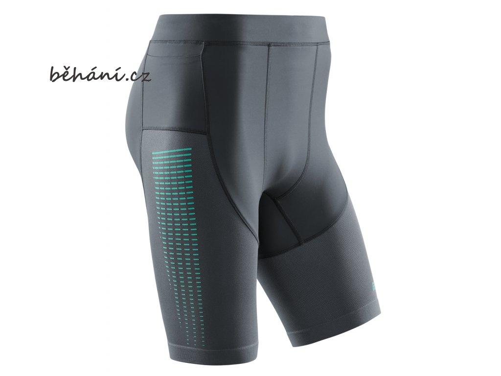 Run Compression Shorts 3 0 grey mint W011CC m front
