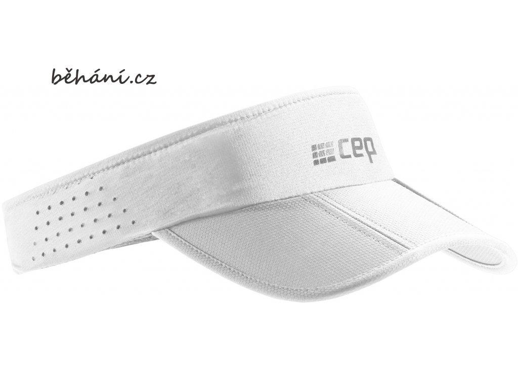 CEP běžecký kšilt - bílý