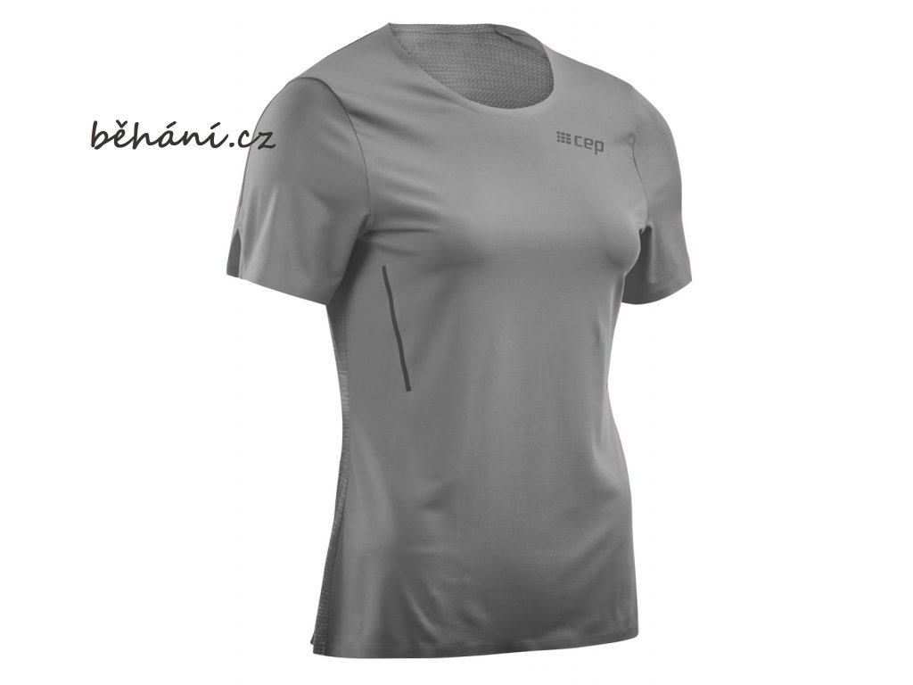Run Shirt Short Sleeve grey W0A325 w front