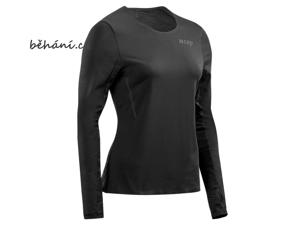 Run Shirt Long Sleeve black W0A356 w front