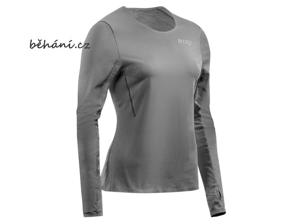 Run Shirt Long Sleeve grey W0A326 w front