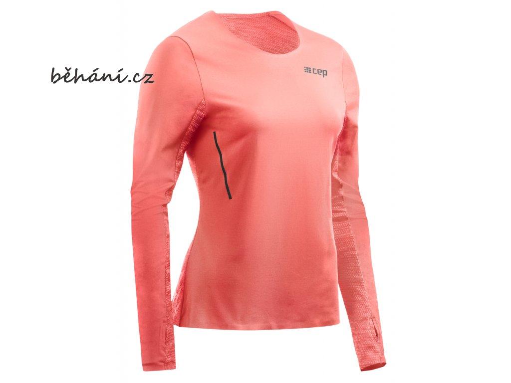 Run Shirt Long Sleeve coral W0A3B6 w front