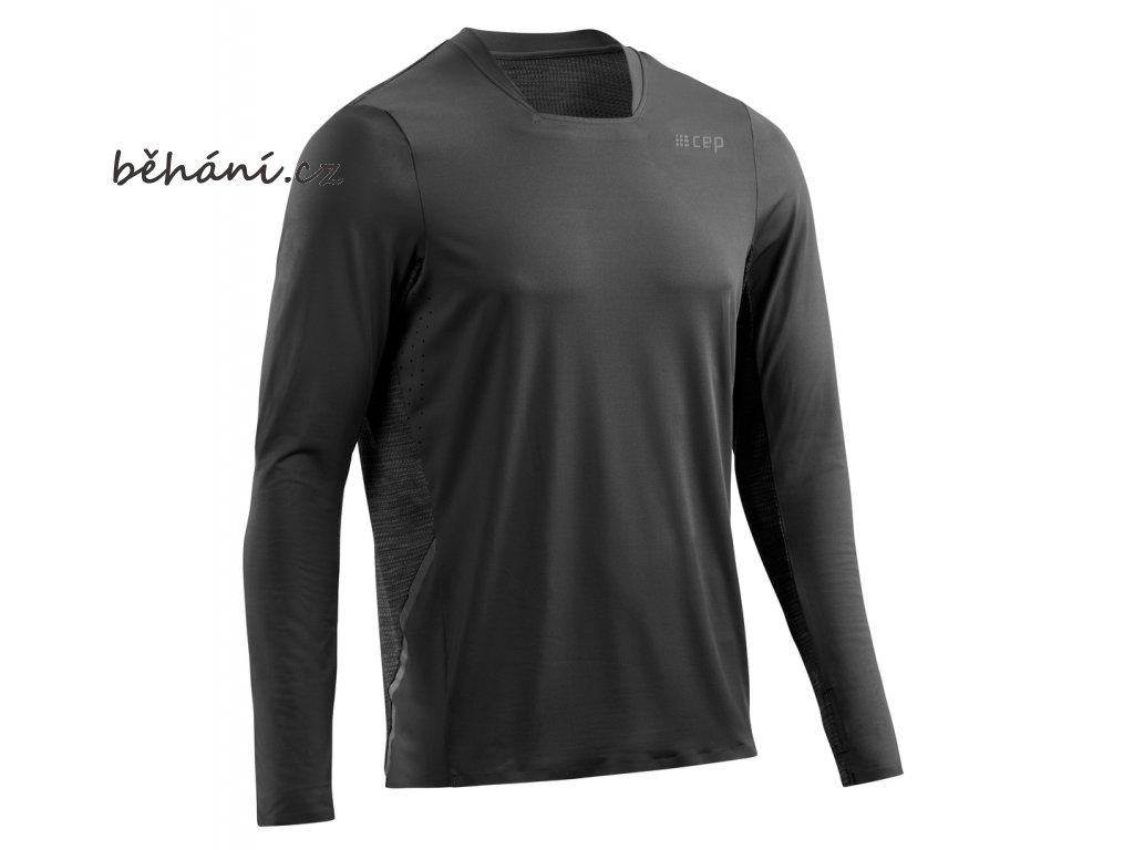 Run Shirt Long Sleeve black W01356 m front