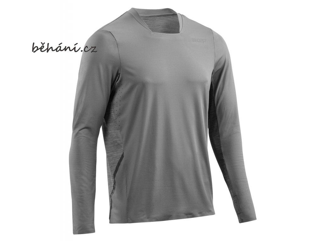 Run Shirt Long Sleeve grey W01326 m front