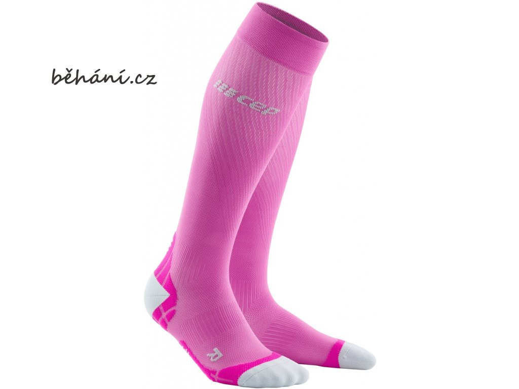 Run Ultralight Compression Socks electricpink lightgrey WP40LY WP50LY front 2