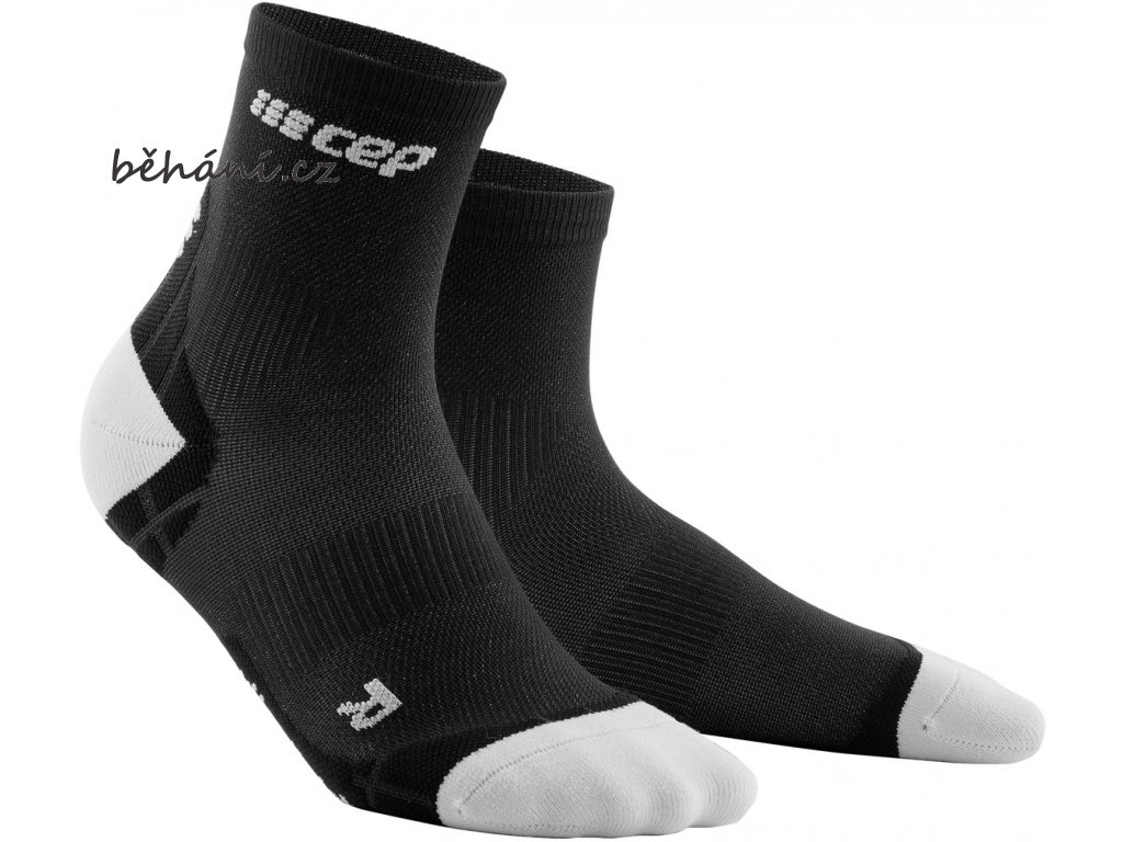 Ultralight Compression Short Socks black lightgrey WP4BIY WP5BIY front 2