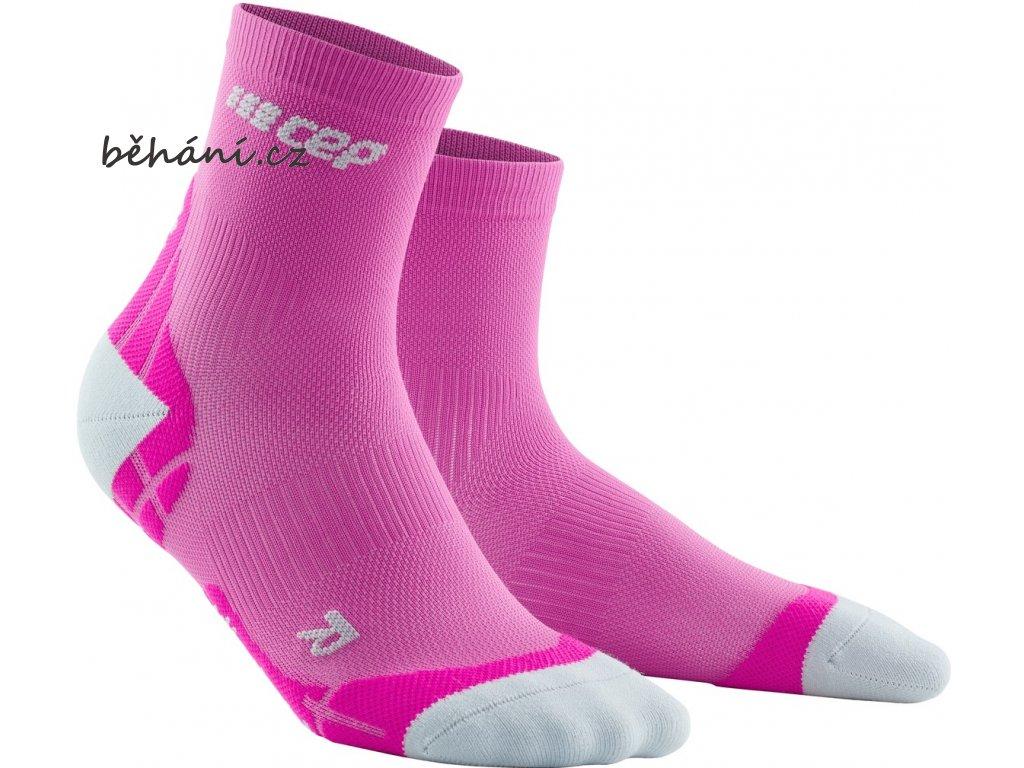 Ultralight Compression Short Socks electricpink lightgrey WP4BLY front 2
