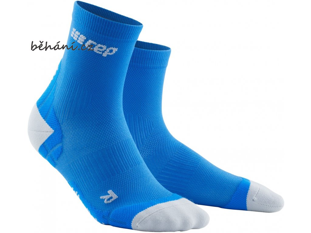 Ultralight Compression Short Socks electricblue lightgrey WP4BKY WP5BKY front 2