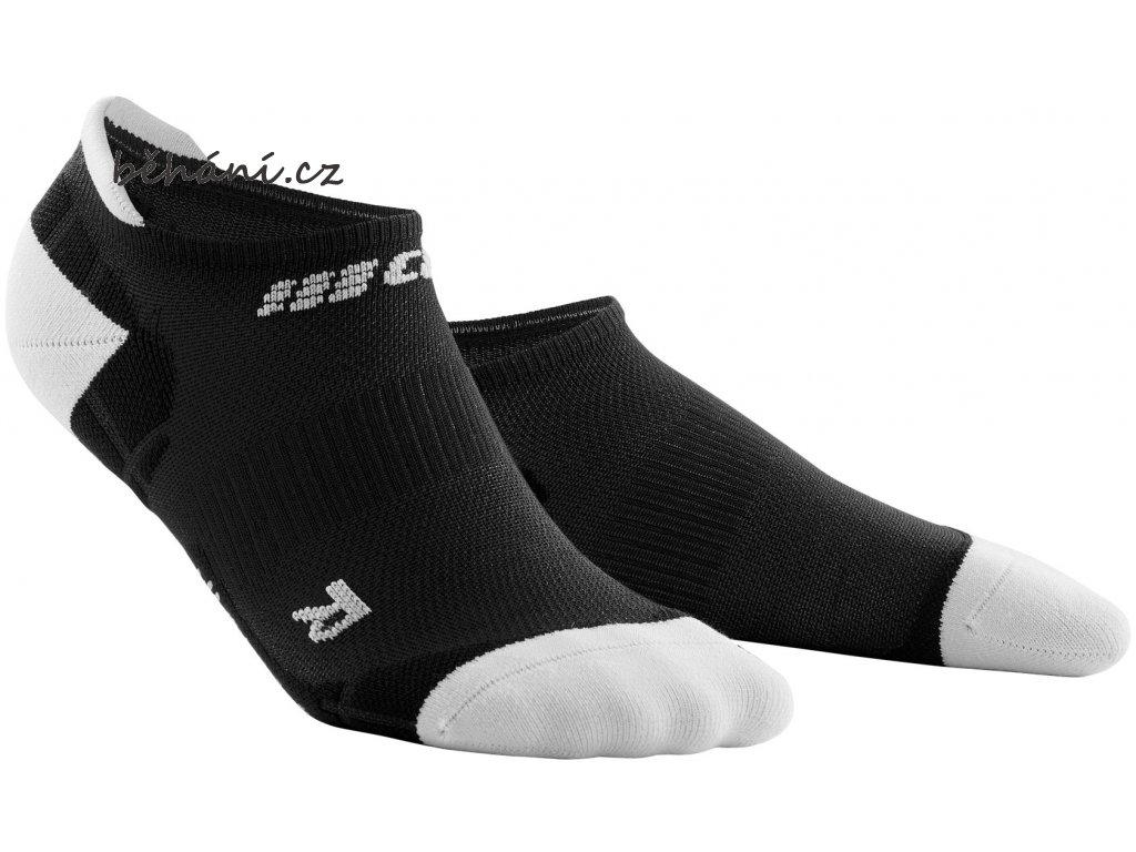 Ultralight Compression No Show Socks black lightgrey WP46IY WP56IY front 2
