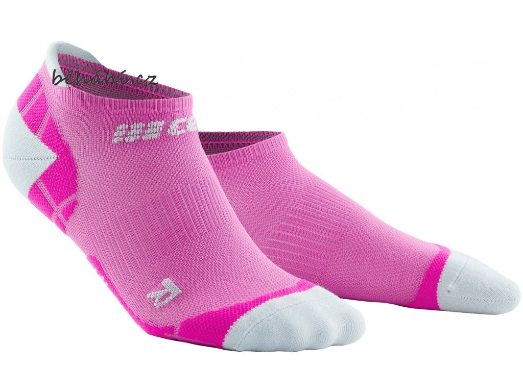 Ultralight Compression No Show Socks electricpink lightgrey WP46LY front 2