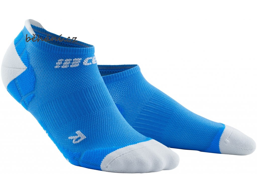 Ultralight Compression No Show Socks electricblue lightgrey WP46KY WP56KY front 2