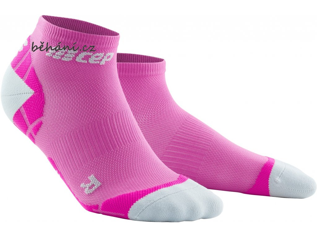 Ultralight Compression Low Cut Socks electricpink lightgrey WP4ALY front 2