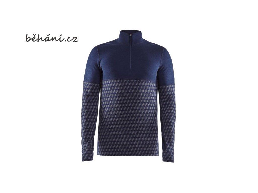 Běžecké tričko CRAFT Merino 240 Zip LS