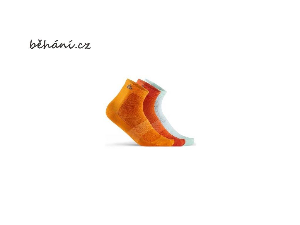 ponozky craft mid 3 pack oranzova 1