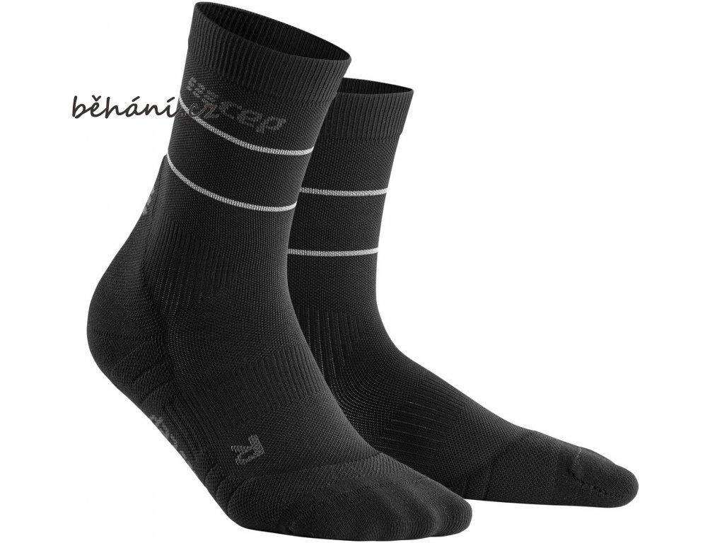 Reflective Mid Cut Socks black WP4C5Z WP5C5Z front 2