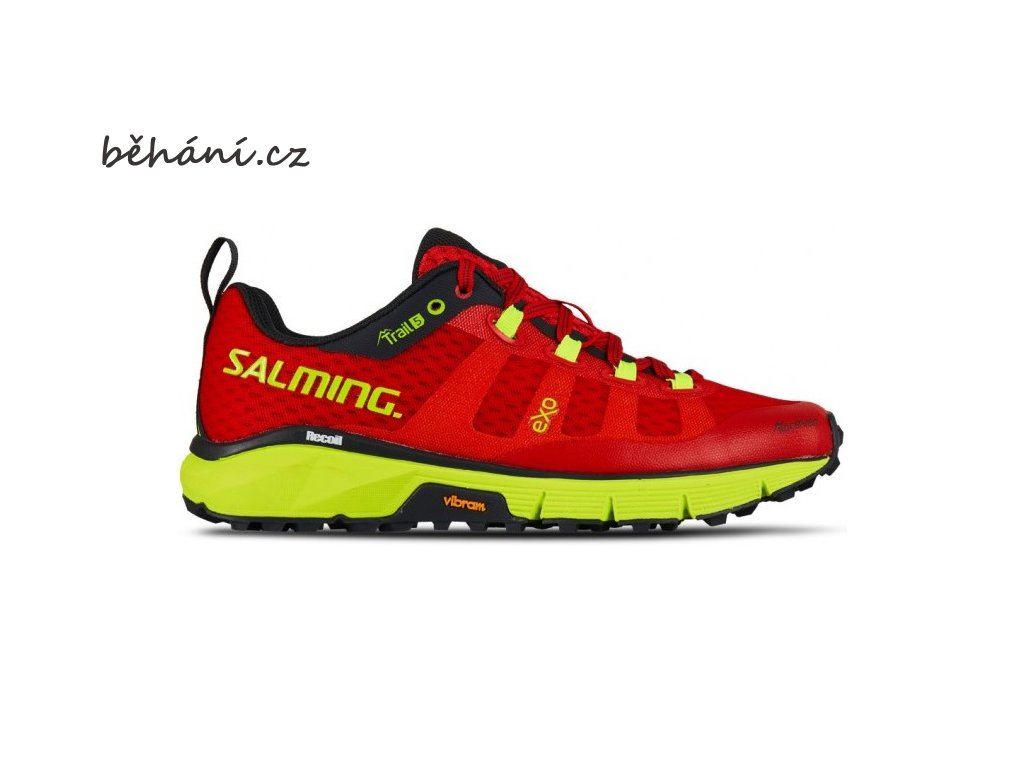salming trail 5 shoe women poppy red safety yellow 85 uk
