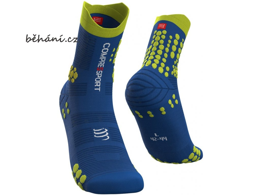 pro racing socks v3 0 trail blue lolite lime t4