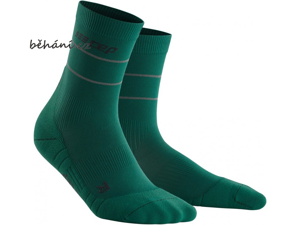 Reflective Mid Cut Socks green WP4CGZ WP5CGZ front 2