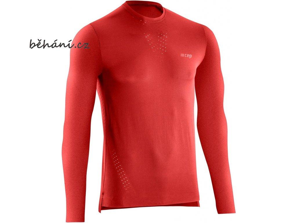 Run Ultralight Shirt LS lava W114J6 m front
