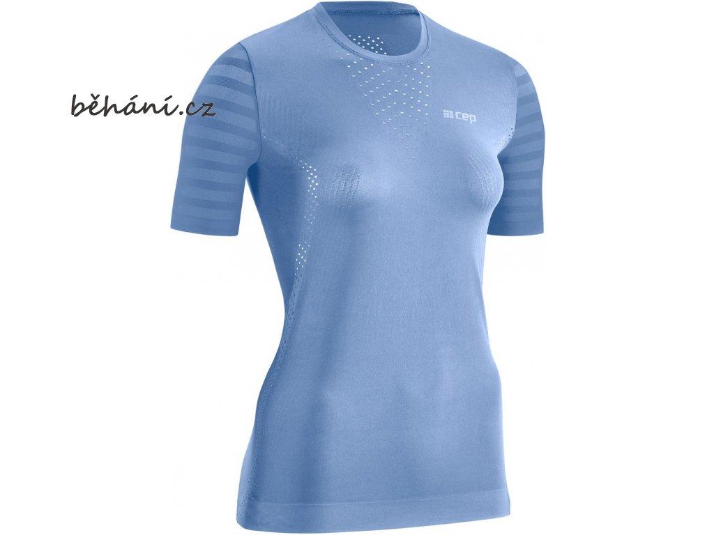 Run Ultralight Shirt SS sky W1A4I5 w front