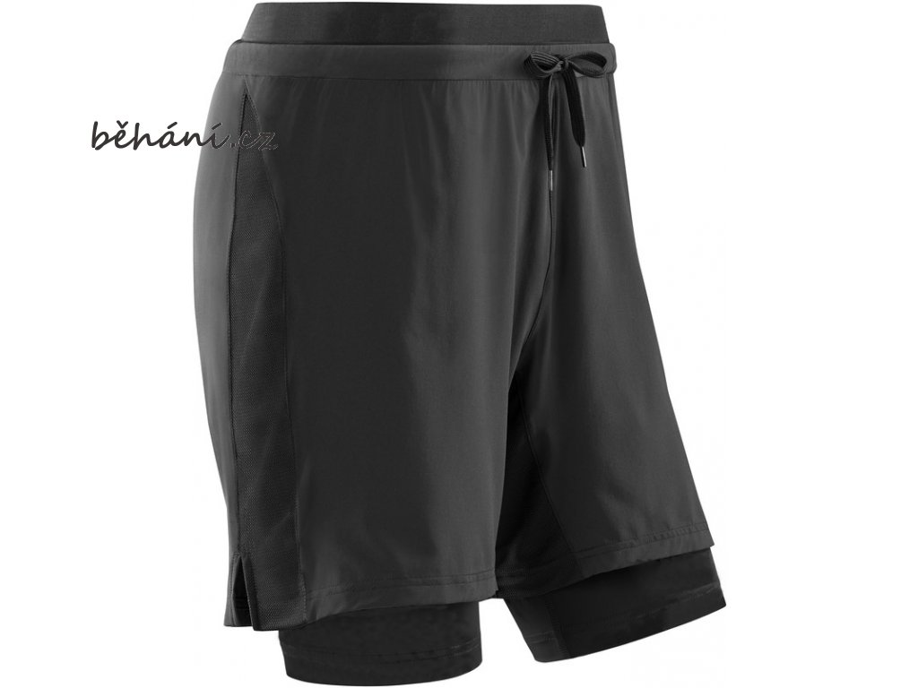 Training 2in1 Shorts black W0815B m front