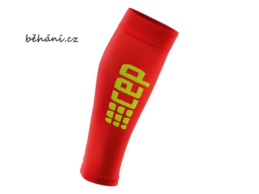 CEP pánské běžecké kompresní lýtkové návleky ULTRALIGHT 2.0 - červené / zelené (Velikost V (45-50 cm obvod lýtka))