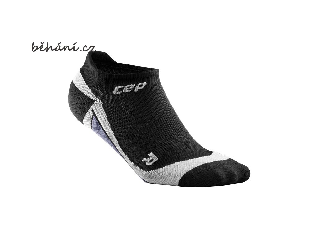 CEP pánské nízké běžecké kompresní ponožky - černá / šedá (Velikost V (26,5-29 cm obvod kotníku))
