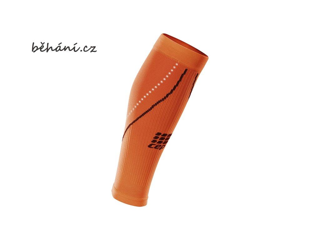CEP dámské běžecké kompresní lýtkové návleky 2.0 - noční oranžové (Velikost IV (39-44 cm obvod lýtka))