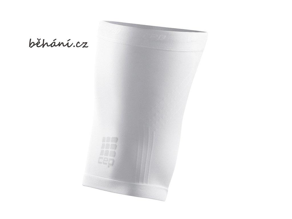 CEP unisexové běžecké kompresní stehenní návleky - bílé (Velikost V (64-70 cm obvod stehna))
