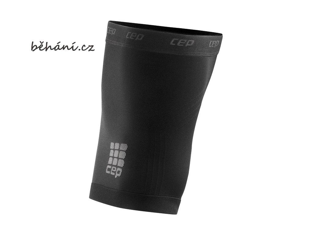 CEP unisexové běžecké kompresní stehenní návleky - černé (Velikost V (64-70 cm obvod stehna))