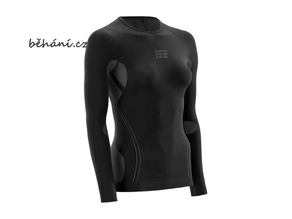 CEP dámské běžecké tričko ULTRALIGHT s dlouhým rukávem - bílé (Velikost textilu XL)
