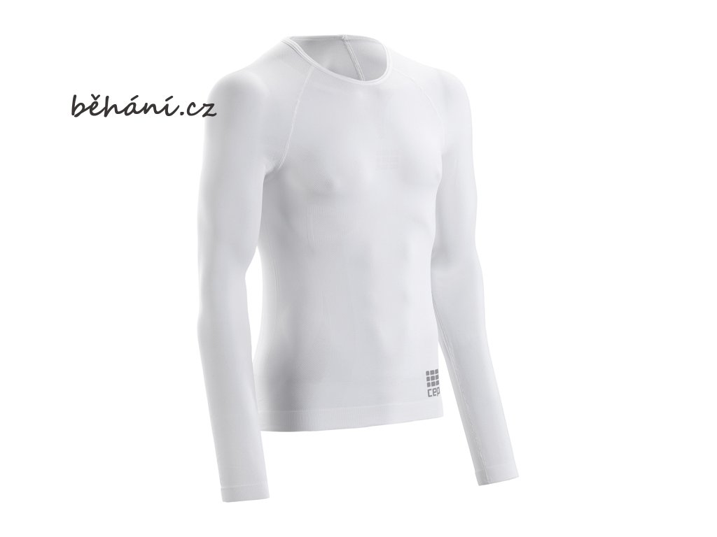 CEP pánské běžecké tričko ULTRALIGHT s dlouhým rukávem - černé (Velikost textilu XXL)