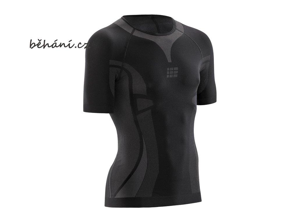 CEP pánské běžecké tričko ULTRALIGHT s krátkým rukávem - černé (Velikost textilu XXL)
