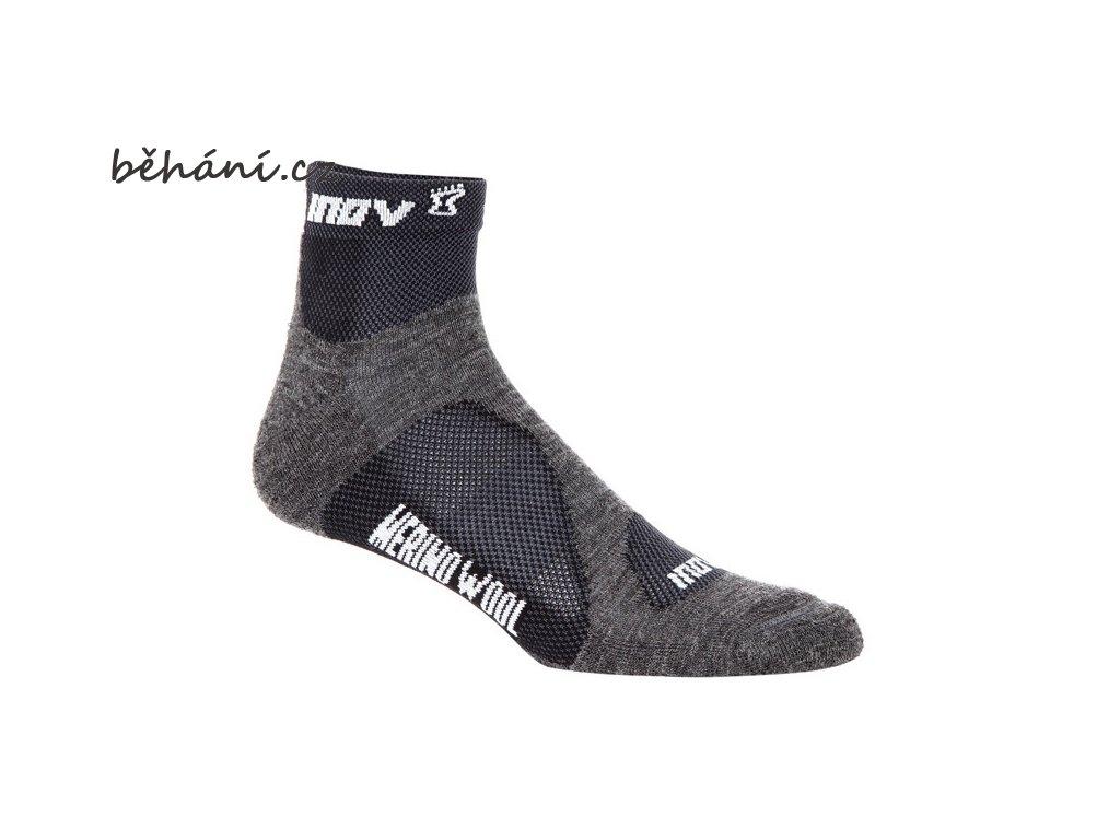 Běžecké ponožky INOV-8 MUDSOC mid 2p grey/black (Velikost textilu 35-39)
