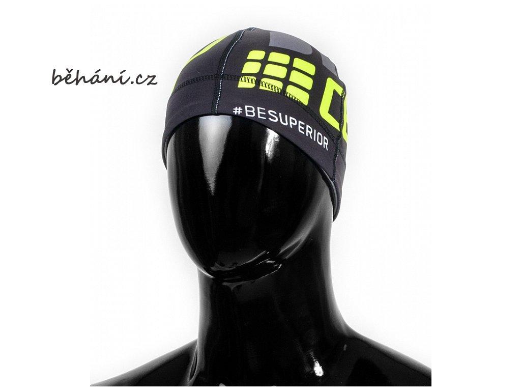 Běžecká čepice CEP černá