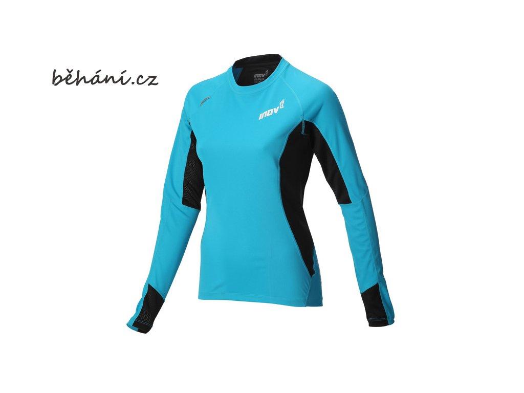 Běžecké tričko INOV-8 BASE ELITE 130 LS turquoise (Velikost textilu XL)